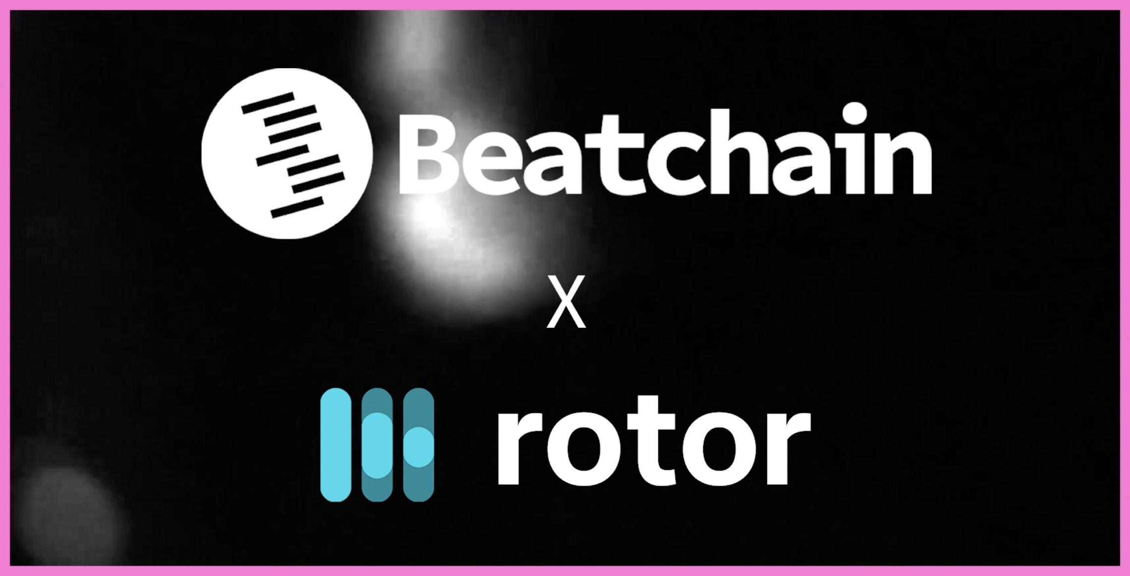 Rotor Videos Beatchain logos