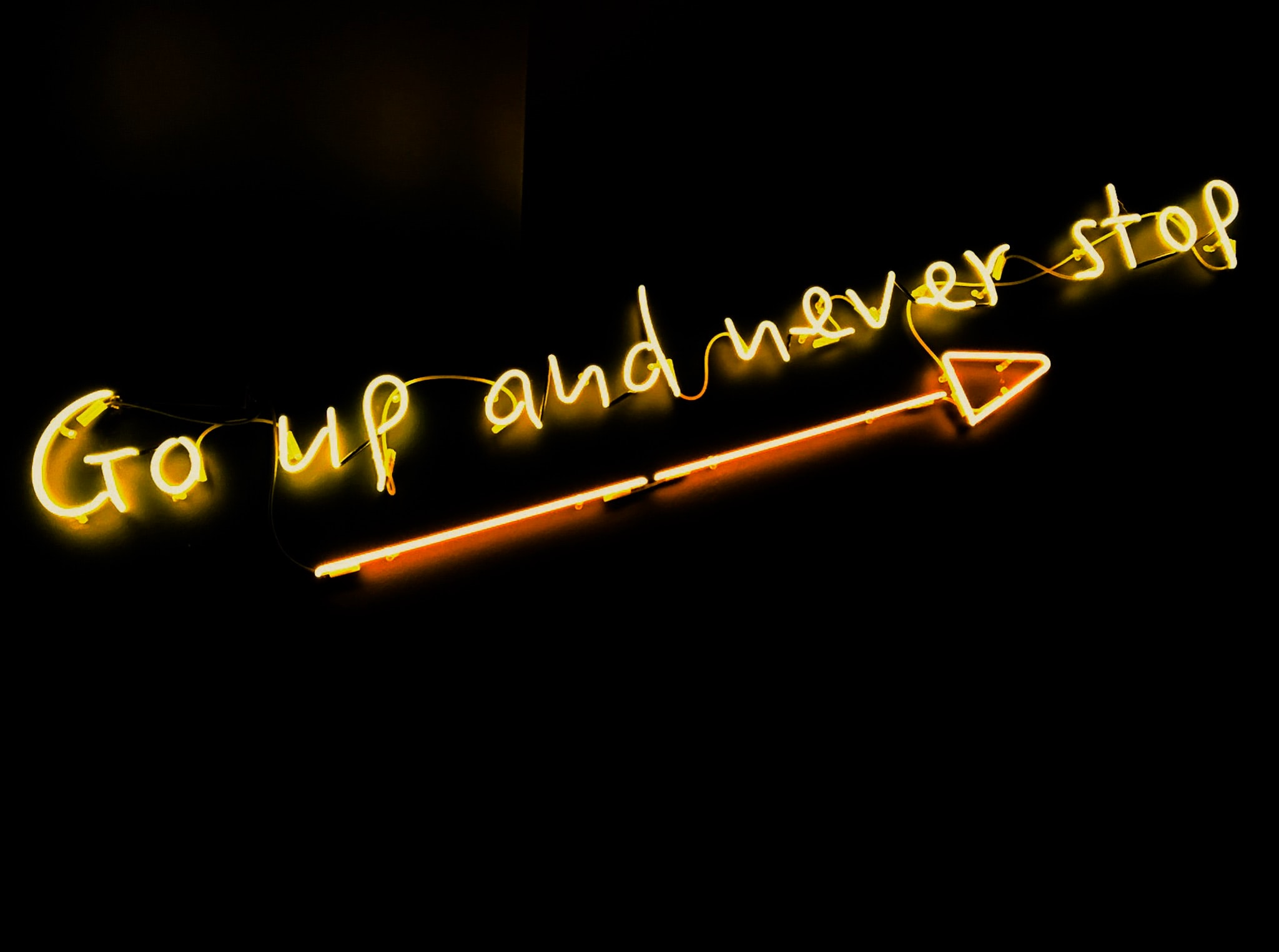 neon sign with text